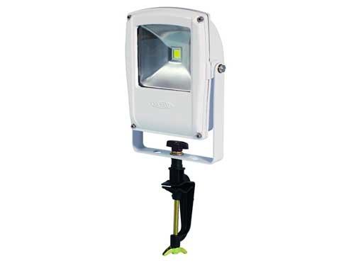 日動工業 LEDフラットライト LEN- F10V-W-S バイス式 本体白 電球色