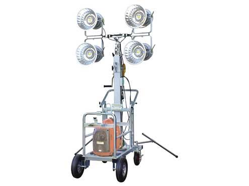 日動工業 LEDタワーライト 50W TL-LED100-4L-EG 発電機タイプ 【代引き不可商品】