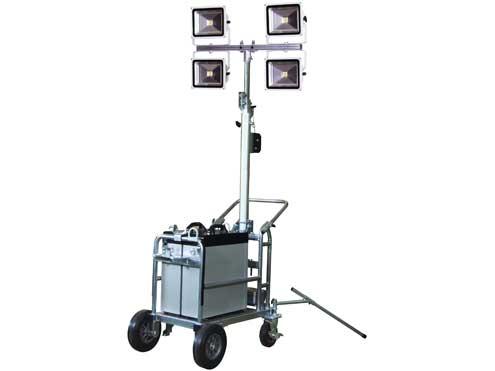 LEDタワーライト 30W 日動工業 TL-LED30-4L リチウムイオンバッテリー式/100V兼用 【代引き不可商品】