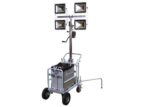 LEDタワーライト 50W 日動工業 TL-LED50-4L リチウムイオンバッテリー式/100V兼用 【代引き不可商品】
