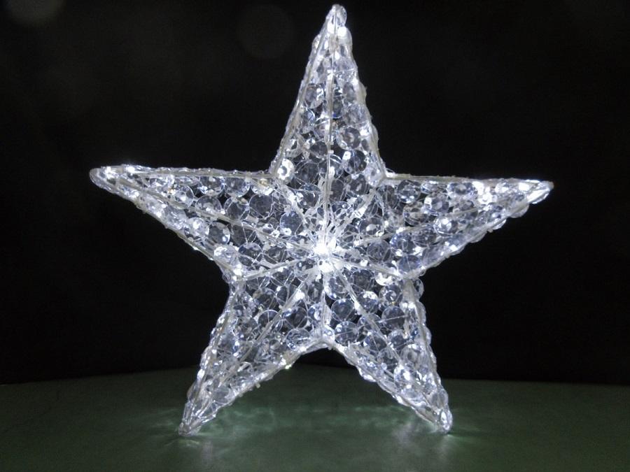 LED ストア イルミネーション 星 スター 業界No.1 電飾 飾り付け 屋外 モチーフ 発光色: 送料無料 白 クリスマス 電球 LEDクリスタルスター ライト 冬