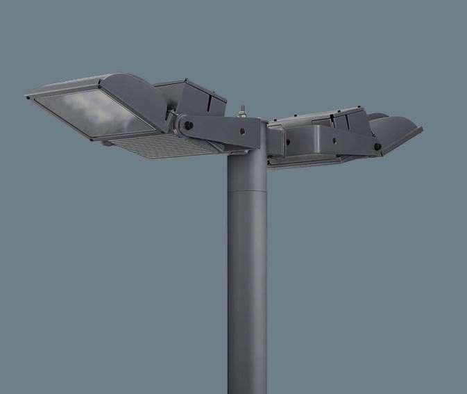 Panasonic パナソニック アーム取付型 LED(昼白色) モールライト ワイド配光 防雨型(結線ボックス)・防まつ型(灯具本体部)・タイマー段調光・定格出力初期光束補正型 パネル付型 水銀灯400形2灯器具相当