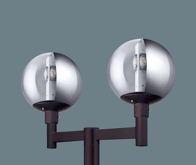Panasonic パナソニック アーム取付型 LED(電球色) モールライト ガラス(透明、縦半分アルミ真空蒸着)グローブ 防雨型(灯具のみ) 水銀灯200形2灯器具相当
