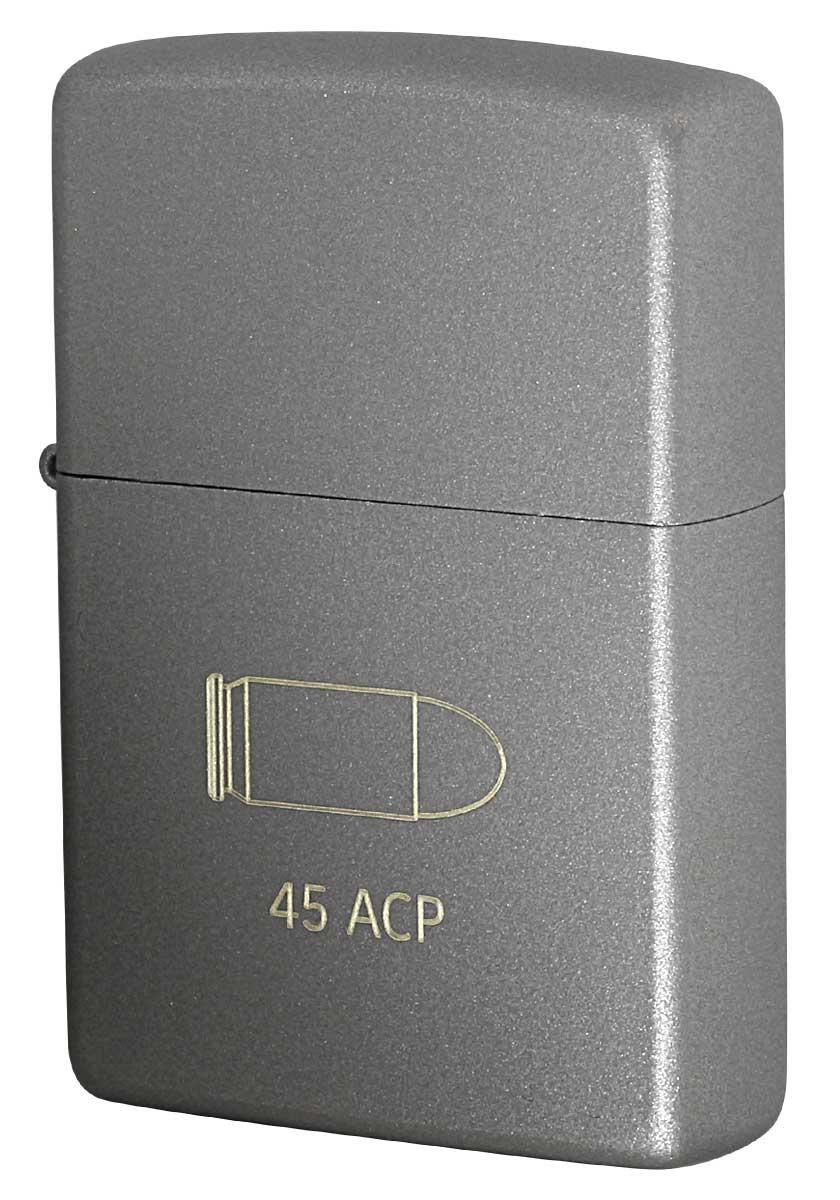 Zippo ジッポー ミリタリーCERAKOTE BULLET セラコート ビュレット 45ACP GRAY 63470698 zippo ジッポ ライター オプション購入で名入れ可