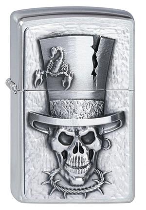 Zippo ジッポー Skull Top Hat 2001666 zippo ジッポライター オプション購入で名入れ可