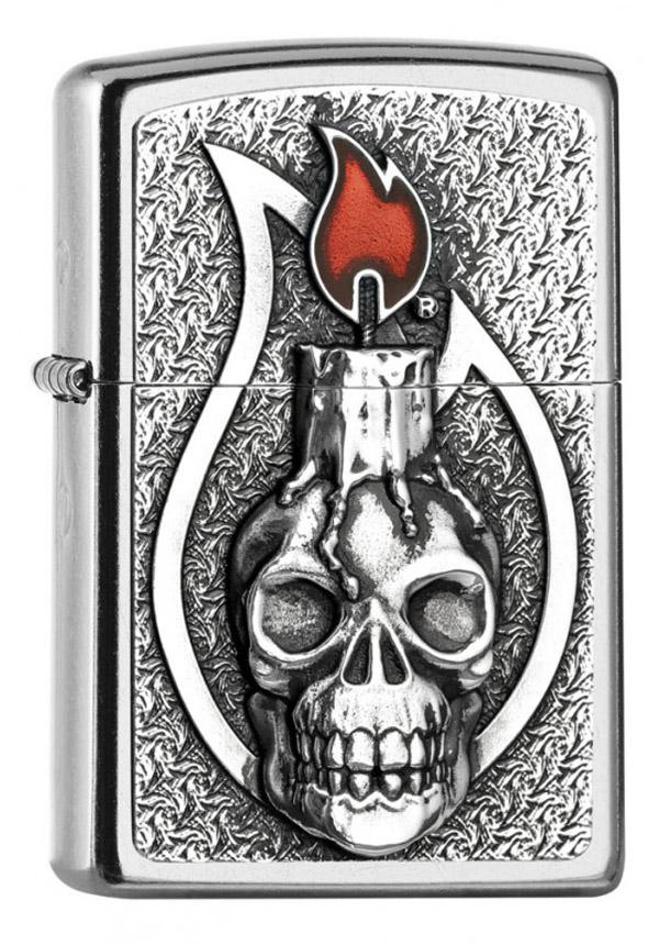 人気激安 ヨーロッパ直輸入Zippo ジッポー Candle Skull zippo Candle Emblem 2005165 ジッポー zippo ジッポ ライター オプション購入で名入れ可, 防犯カメラ専門店 アルコム:c397377a --- bibliahebraica.com.br