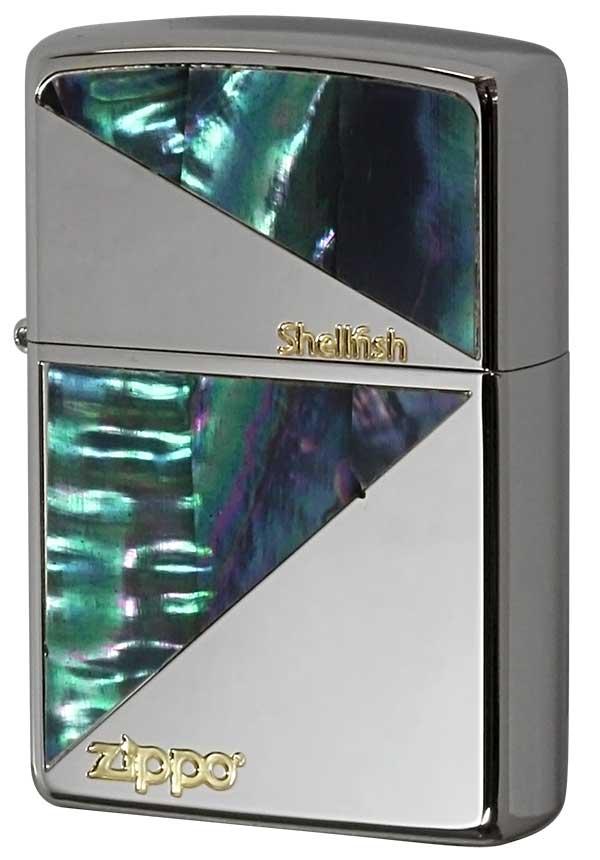 Zippo ジッポー Shellish Desgin 貝貼り N#3 zippo ジッポ ライター オプション購入で名入れ可