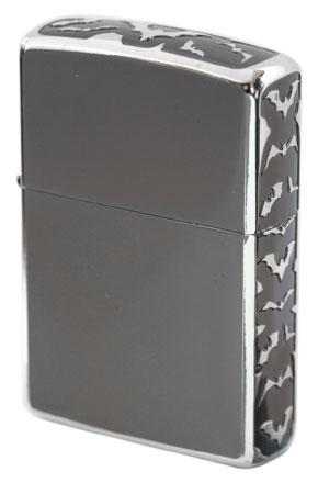 Zippo ジッポー 3面エッチング ガンメタル 3E-BATS B GUNMETAL&Sv zippo ジッポライター オプション購入で名入れ可