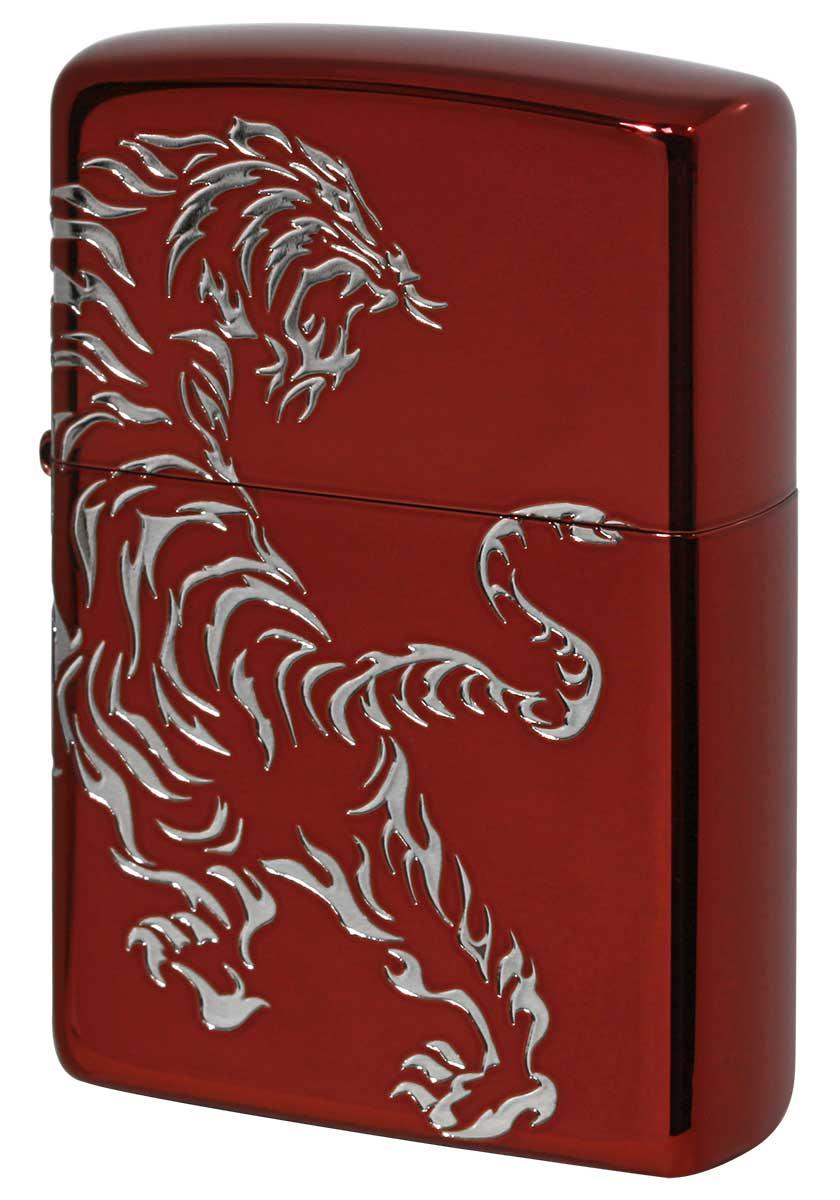Zippo ジッポー Tiger & Dragon 2REDS-TIGER zippo ジッポ ライター オプション購入で名入れ可