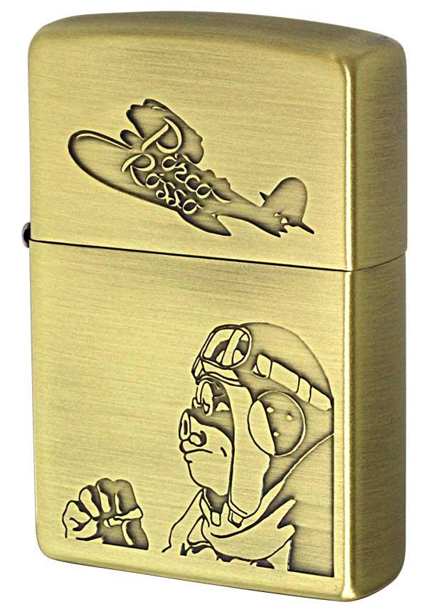 Zippo ジッポー キャラクター スタジオジブリ 紅の豚 ポルコ2 NZ-05 zippo ジッポ ライター オプション購入で名入れ可