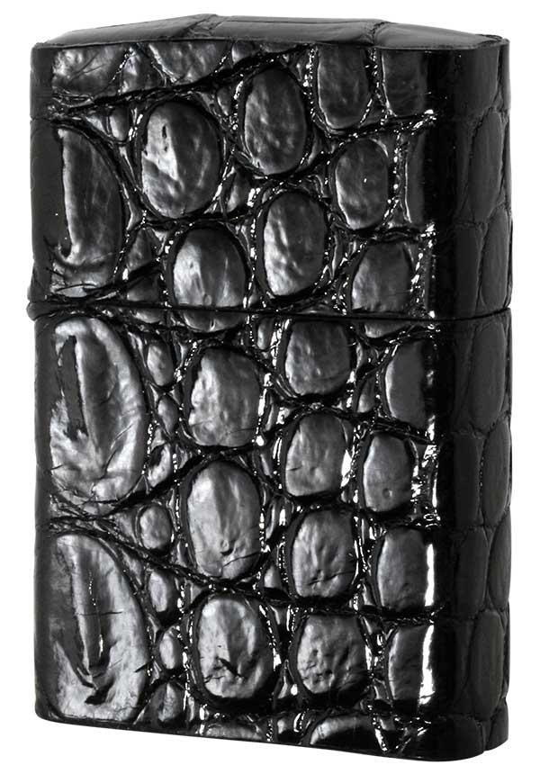 Zippo ジッポー クロコダイル革巻き ブラック zippo ジッポライター オプション購入で名入れ可