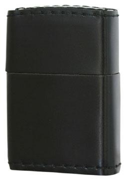 Zippo ジッポー コードバン革巻き・ブラック zippo ジッポライター オプション購入で名入れ可