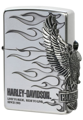 日本限定Zippo Harley Davidson ハーレーダビッドソン HDP-04 zippo ジッポライター オプション購入で名入れ可