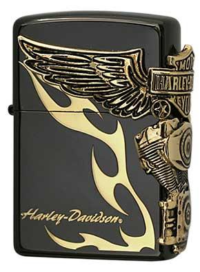 日本限定Zippo Harley Davidson ハーレーダビッドソン HDP-24 zippo ジッポライター オプション購入で名入れ可