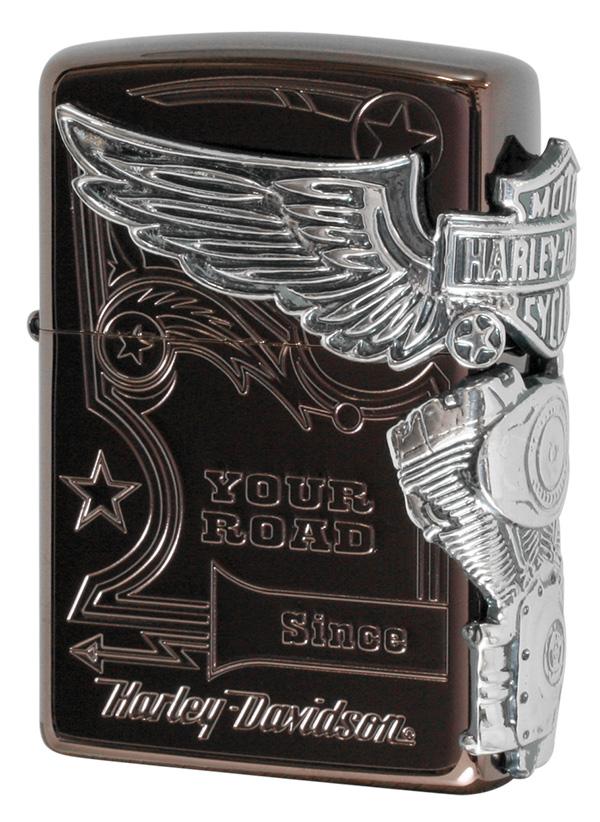 Zippo ジッポー 日本限定Zippo Harley Davidson ハーレーダビッドソン HDP-49 zippo ジッポライター オプション購入で名入れ可