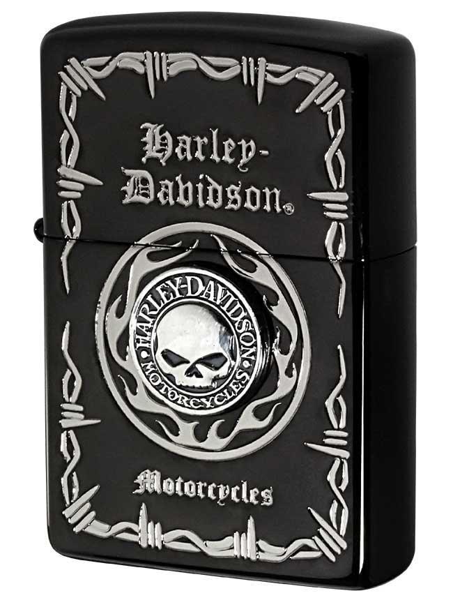 Zippo ジッポー 日本限定Zippo Harley Davidson ハーレーダビッドソン Sメタル スカル HDP-69 zippo ジッポ ライター オプション購入で名入れ可