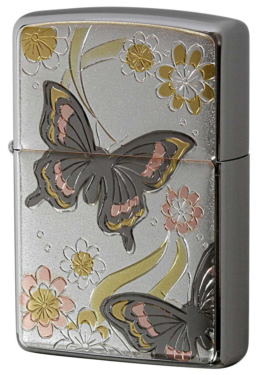 Zippo ジッポー 電鋳板 Electroforming 蝶 Butterfly zippo ジッポ ライター オプション購入で名入れ可 メール便可