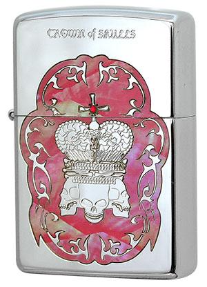 Zippo COS-B ジッポー シェル天然貝象嵌 Crown of Zippo Skulls COS-B Crown zippo ジッポライター オプション購入で名入れ可, 亘理町:2f7b19fd --- officewill.xsrv.jp