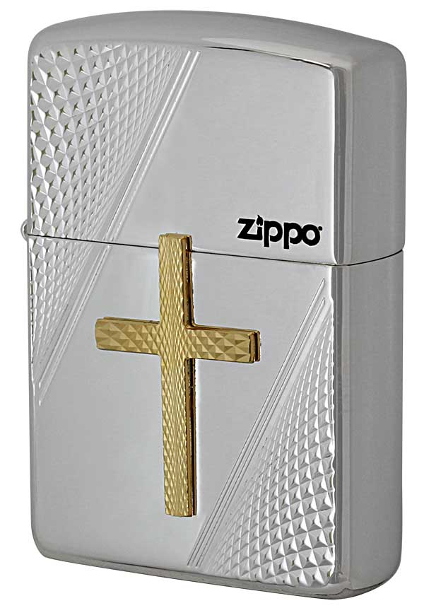 Zippo ジッポー ARMOR アーマー CROSS METAL クロスメタル PC zippo ジッポ ライター オプション購入で名入れ可