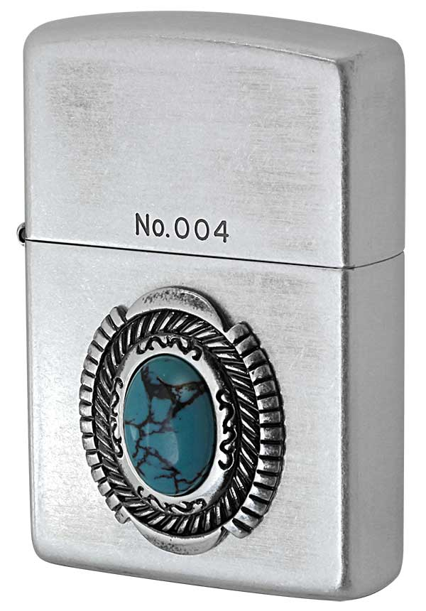 Zippo ジッポー Turquoise Style ターコイズスタイル イミテーションストーン ナンバー付き zippo ジッポ ライター オプション購入で名入れ可 メール便可