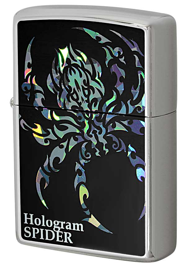 Zippo ジッポー Hologram ホログラム スパイダー zippo ジッポ ライター オプション購入で名入れ可