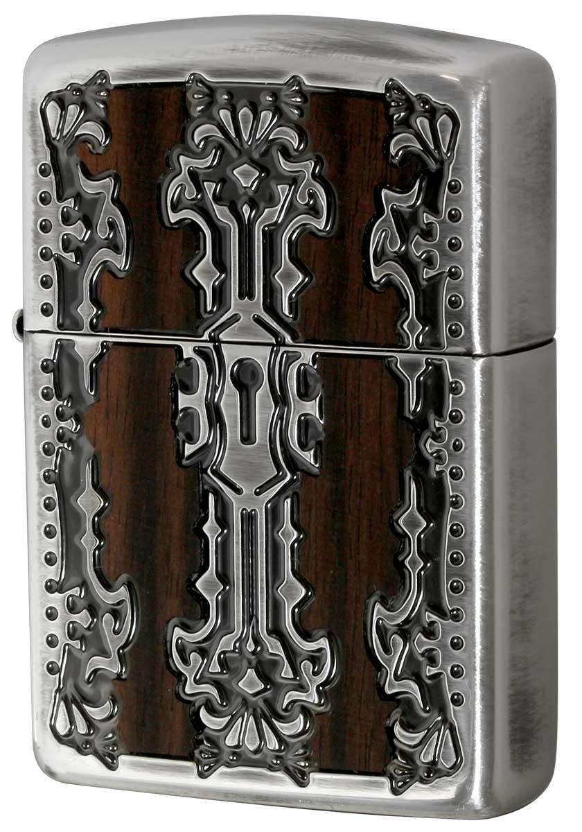 Zippo ジッポー Keyhole Wood Inlay キーホールウッドインレイ SV 2-51b 銀 zippo ジッポ ライター オプション購入で名入れ可