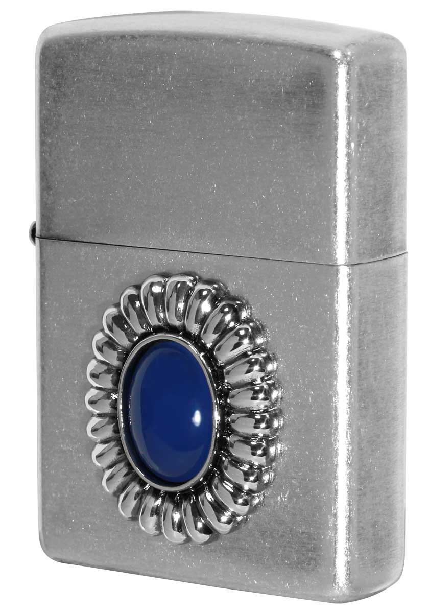 Zippo ジッポー Power Stone パワーストーン ブルーアゲード 70641 zippo ジッポ ライター オプション購入で名入れ可