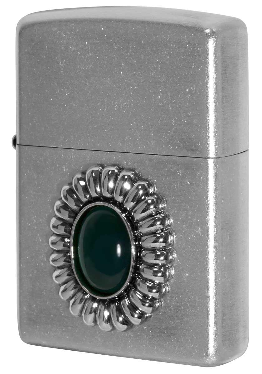 Zippo ジッポー Power Stone パワーストーン グリーンアゲード 70639 zippo ジッポ ライター オプション購入で名入れ可
