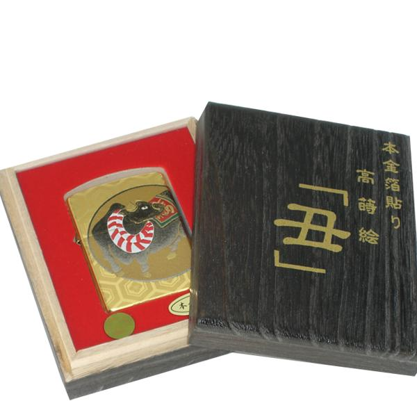 ZIPPO 本金箔張り 高蒔絵 丑 平成二十一年【smtb-u】【送料無料】