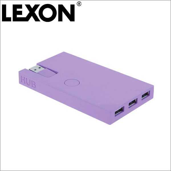 男人的杂货商LEXON列克损失中心USB中心3端口BURO LD106垫子紫礼物礼物礼物礼物