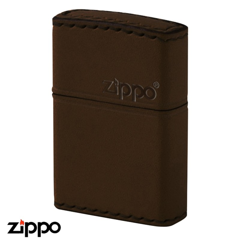 zippo 革巻き リアルレザー ハンドメイド DB-5 本牛革ブラウン ギフト プレゼント 贈り物 返品不可 レザー 喫煙具