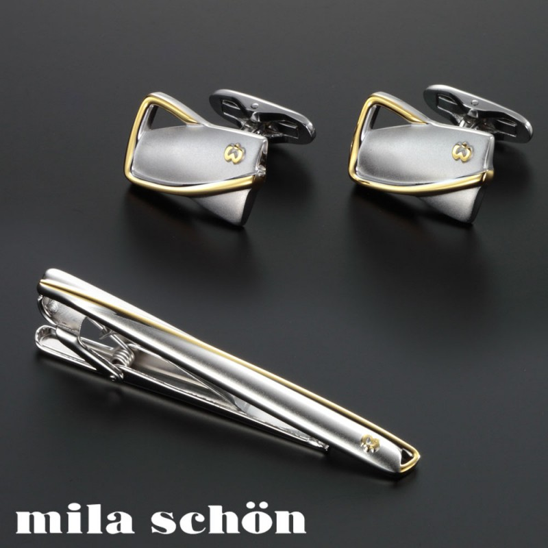カフス ネクタイピン セット タイバー ミラショーン MSC10347 MST5347 メンズファッション ギフト プレゼント 贈り物 人気