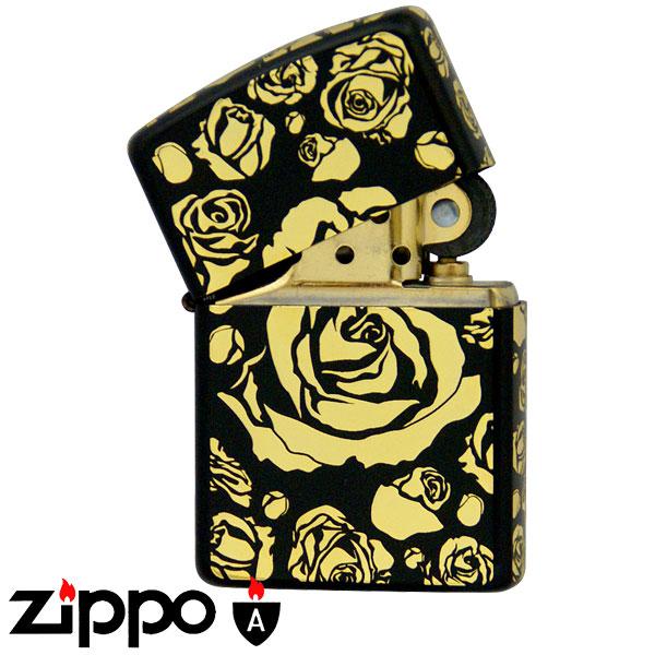 zippo ジッポーライター アーマー zippo アーマー ライター ブラックマットGローズ ギフト プレゼント 贈り物 オイルライター ジッポライター 彼女 女性用 レディース 喫煙具