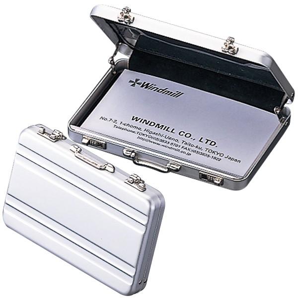 アルミ製トランクケース型カードケース カードケース お洒落 名刺ケース ミニトランク 名刺入れ ミニALトランクカードケース プレゼント 人気 日時指定 ギフト A101-1002 贈り物 Aタイプ