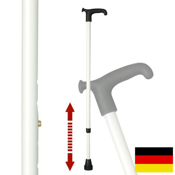 杖 ステッキ ドイツ製リハビリ用ステッキ(ホワイト)OS8 ギフト プレゼント 贈り物