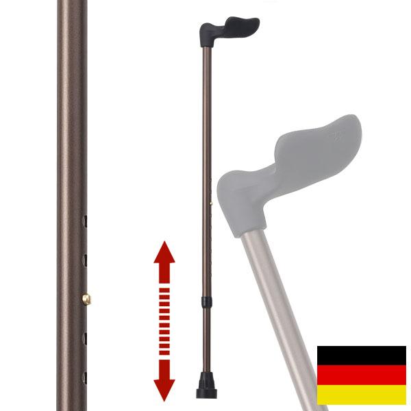 杖 ステッキ ドイツ製リハビリ用ステッキ(フィッシャー右手用メタリックブロンズ)FG2R