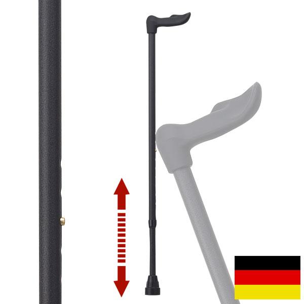 杖 ステッキ ドイツ製リハビリ用ステッキ(フィッシャー左手用レザーブラック)FG3L