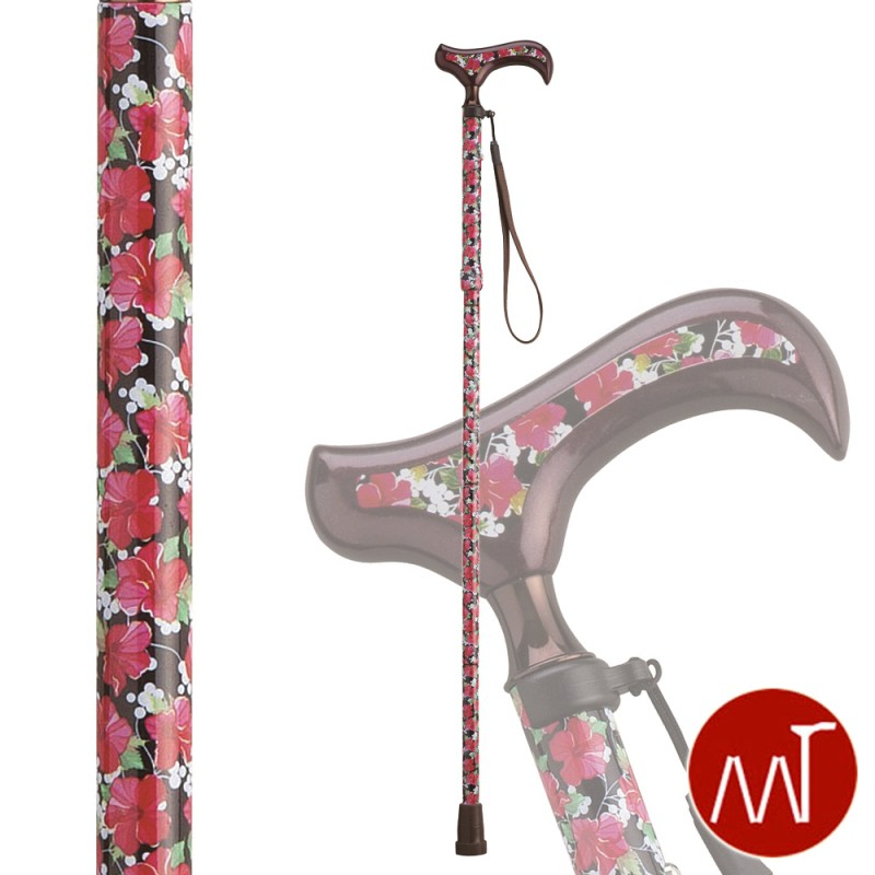 杖 折りたたみ 折りたたみ式杖 愛杖 Fx-12B ストラップ付き ギフト プレゼント 贈り物