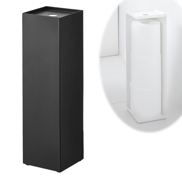 Captivating Toilet Paper Stand Storage Toilet Paper Holder Tower Black 07851 Packaging  Cannot Be Gift Giveaway