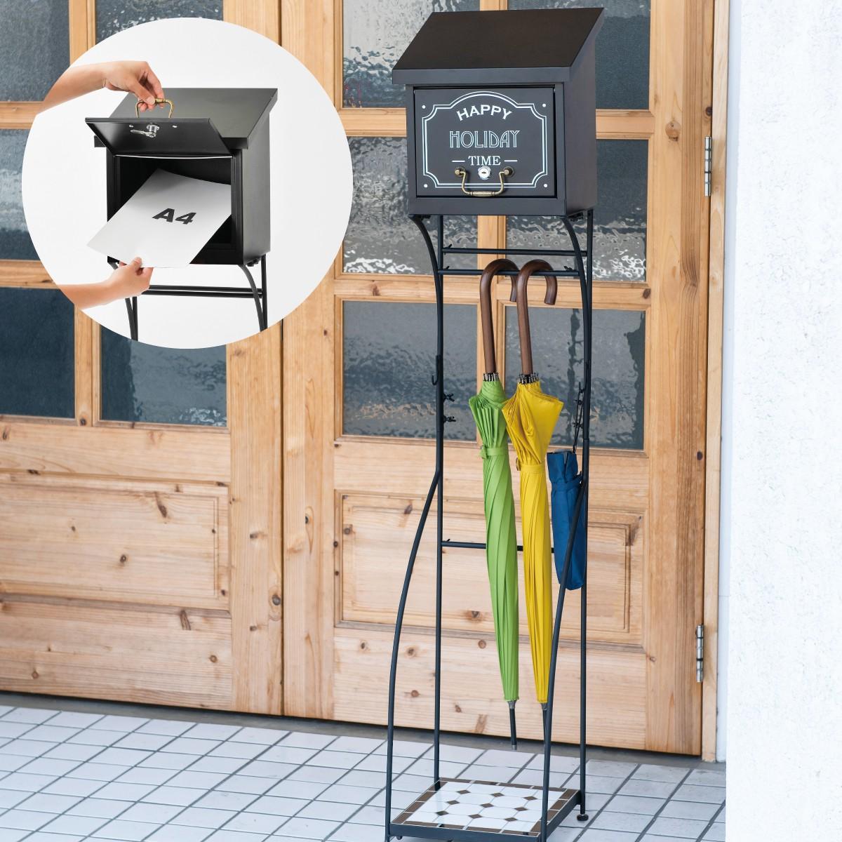 ポスト スタンド 置き型 おしゃれ スタンドポスト カフェ SI-2620 返品不可 キャンセル不可 代引不可 メーカー直送