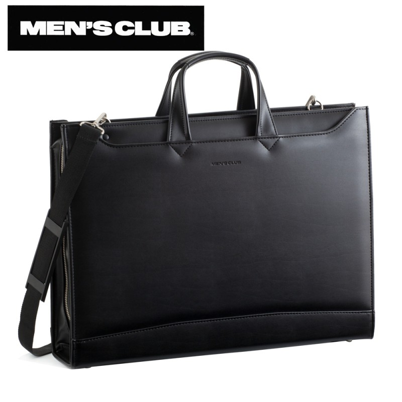 ★期間限定P10★ メンズ ビジネスバッグ ビジネスカバン メンズクラブ 大開きビジネスシリーズ ビジネスバッグ 黒 22156 men's メンズ ビジネスバッグ ビジネスカバン 鞄 父の日 ギフト プレゼント おしゃれ 人気