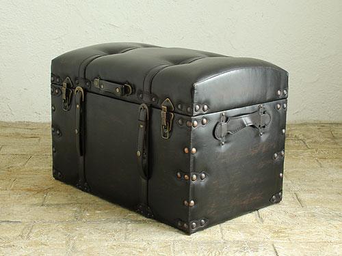 スツール 椅子 イス いす チェア トランク 雑貨 収納 宝箱 アンティーク レザー 合皮 革 皮 デザイン 北欧 インテリア カフェ 新築 スツール トランクチェスト L ※送料無料対象外です※ 0034-ch-IW-876-L