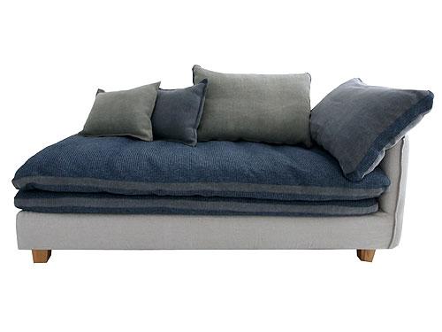 ソファ ソファー リビング カウチソファ コーナーソファ カバーリング ファブリック  Mコレクション クッション付きカバーリングソファ FUTON SOFA グレー コーナータイプ 向かって左側 0142-sf-mg40-couch-r