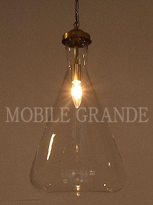サンヨウ ガラスシェード グラスランプセット Flask三角 L 灯具セット ※電球別売 0147-li-ML-TR100-S
