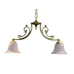 サンヨウ クラシックスタイルシャンデリア  60WX2灯=120W相当 電球2灯付属  LED電球対応 0147-li-CP20G-416
