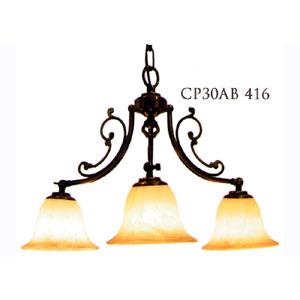 サンヨウ●クラシックスタイルシャンデリア (60WX3灯=180W相当)電球3灯付属 LED電球対応0147-li-CP30AB-416