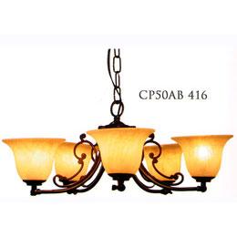 サンヨウ クラシックスタイルシャンデリア  60WX5灯=300W相当 電球5灯付属  LED電球対応 0147-li-CP50AB-416