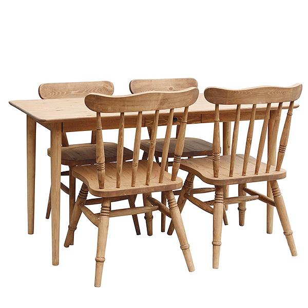 【店内全品ポイント10倍】ダイニング5点セット POTERYパイン家具 160テーブル(CO01-160)+チェア4脚(CO03x4)