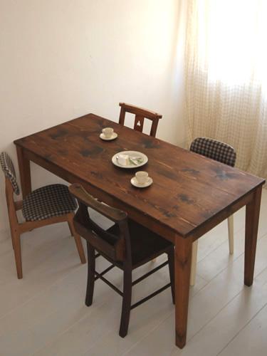国産オリジナルオーダー家具 Rustic ラスティックパイン テーブル ~1600×~700 イージーオーダー 0220-dt-RT-214-160