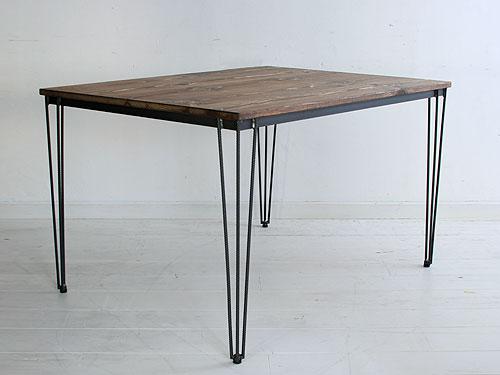 【店内全品ポイント10倍】国産オリジナルオーダー家具 Rustic 3 Spoked Iron legs Table (アイアン3本脚)0220-dt-RI-108-120